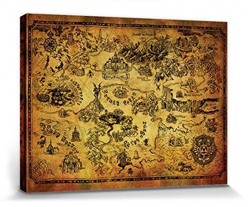 1art1 The Legend of Zelda - Mapa De Hyrule Cuadro
