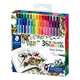 Triplus Johanna Basford Design Pen - Assortis-Lot de 36