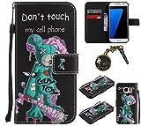 PU Coque Galaxy S7 Edge, Multifonction Case Wallet Cover Etui en cuir Étui de protection flip Wallet stand Cover avec des fentes de cartes pour Samsung Galaxy S7 Edge +Bouchons de poussière (6EE)