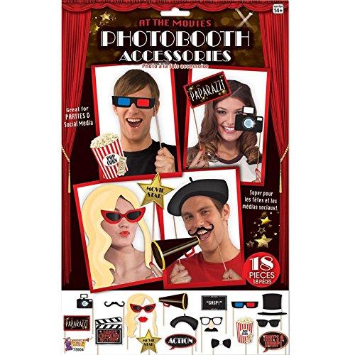 18PCS Oscars Foto Booth Selfie Requisiten Film Hollywood Premiere Awards Party Pack Selfie Kit