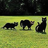 Garden Mile® Pack of 3 Black Powder Coated Metal Cat