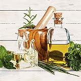 Artland Qualitätsbilder I Glasbilder Deko Glas Bilder 30 x 30 cm Stillleben Arrangements Lebensmittel Foto Weiß A7ES Olivenöl und Kräuter Küche