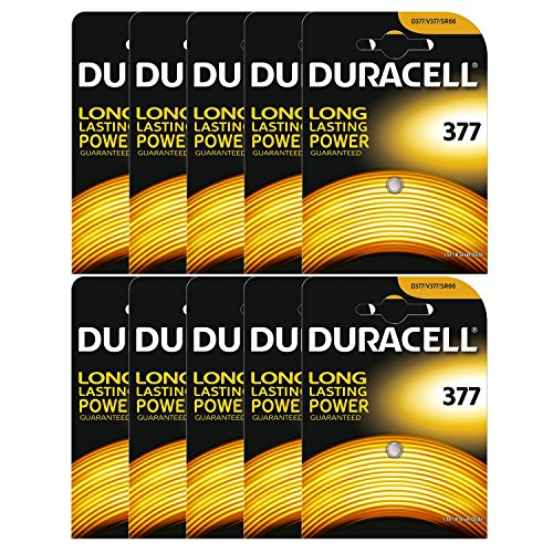 10 x Duracell 377 1.5v Silver Oxide Watch Battery Batteries SR626SW AG4 626 D377 377 Silver Oxide Watch Battery