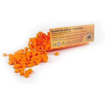 La Manufacture du Pixel Boîte 400 carrés pixels (Orange) - Pixel Art, Loisir Créatif, Mosaïque, Fun ! - Créez à l'infini tout l'art qui vous ressemble