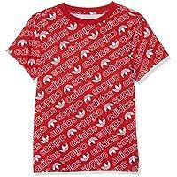 Adidas DN8147 Camiseta, Niños, Rojo (Collegiate Red) / Blanco, 152 (11/12 Años)