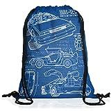 style3 DMC-12 Cianografia Borsa da spalla sacco sacchetto drawstring bag gymsac futuro