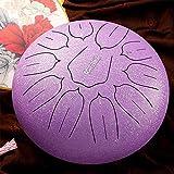 10 pollici 11 note strumento a percussione a tamburo con lingua d'acciaio tamburo a mano con tamburo bacchette borsa per il trasporto, perfetto per yoga e meditazione
