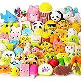 Juguetes Squishy de Hinchado Lento Paquete Surtido de 10 Squishies: Kawaii de Comida Gigante Bollo Pan Donuts Panda Suaves y Blandos Jumbo Medio y Mini - Amuletos de Móvil Llavero Correa