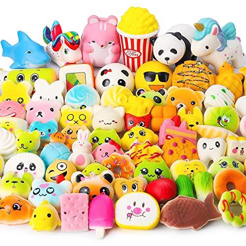 uishies Squishy Pack mit 10 Stück Jumbo Medium Mini Soft Squishie Squishy Kuchen/Panda/Brot/Brötchen Handystraps Toller Geruch ()