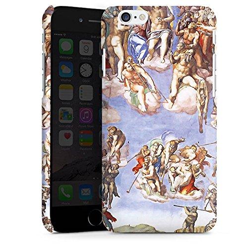 Apple iPhone X Silikon Hülle Case Schutzhülle Michelangelo Buonarroti Das jüngste Gericht Gemälde Premium Case matt