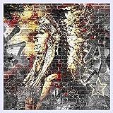 BHXINGMU Benutzerdefiniertes Hintergrundbild Wandbilder 3D Graffiti Kunst Holzmaserung Backstein Wandbild Retro Charakteristischen Cafe Restaurant Tapeten 270 Cm (H) X 370 Cm (W)