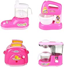 SUPER TOYS Battery Operated Mini Household Kitchen Sets Toys for Baby Girl's