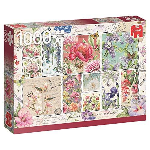 Jumbo Sellos de Flores Puzzle de 1000 Piezas 18597.0