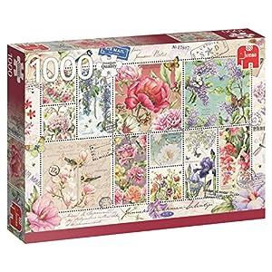 Jumbo- Sellos de Flores Puzzle de 1000 Piezas (18597.0)