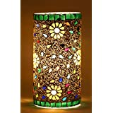 Mejilla Antique Look Decorative Mosaic Table Lamp / Cylindrical Lamp / Night Lamp/ Fancy Light / Lamp Shade / Vintage Light / For Living Room / Dining Area / Bedroom / Party Decoration / Bedside (Size- 13.75 X 13.75 X 22.5 Cm) BE140