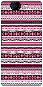 Snoogg Loud Aztec Pink And Black Designer Protective Back Case Cover For Micromax Canvas Knight A350