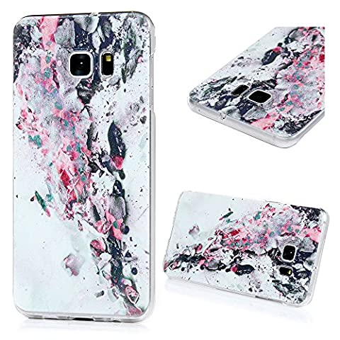 kassos Samsung Galaxy S6Edge Plus Coque, Colorful peinture All Inclusive bord rigide pour PC iPhone Protection d'écran [Transparent] [chute Protection] [ajustement parfait] pour Samsung Galaxy S6Edge Plus