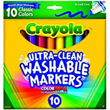 Crayola 10 Ct Ultraclean Broad Line Washable Markers