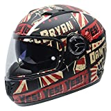 NZI 050305G808 Casco Moto, Eurus S Daniel Bryan YES by Superstars WWE, Taglia XS
