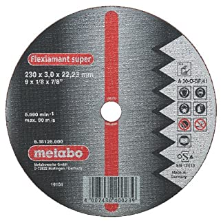 Metabo 616751000 616751000-Disco de tronzar para Amoladora Angular Flexiamant Super A30-O Aluminio embutido Ø 115 x 2,5 x 22,22 mm (Envase de 25 Ud)
