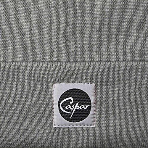 CASPAR MU107 Bonnet en tricot fin UNISEXE Gris