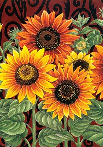 toland-home-garden-sonnenblumen-mix-orange-schwarz