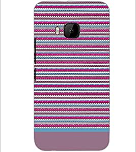 PrintDhaba Tribal pattern D-1933 Back Case Cover for HTC ONE M9 (Multi-Coloured)