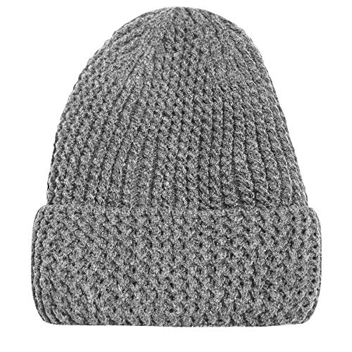 6eafce54a5d Mens Boys Ladies Unisex Wooly Knitted Beanie Ski Hat Warm Winter Turn Up  Chunky