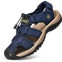Unitysow Sandali Uomo Estivi All'aperto Antiscivolo Sportivi Escursionismo Trekking Sandals Cuoio Casuale Pescatore…