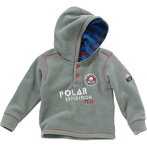 Polar Team Jungen Arctic Adventure Polarfleece Hoody Gr. 12-18 Monate, grau