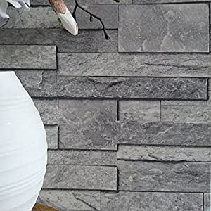 Split Face Tile Effect 3D Textured Faux Slate Stone Effect ...