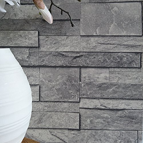 split-face-tile-effect-3d-textured-faux-slate-stone-effect-wallpaper-in-grey-tones-sample-only