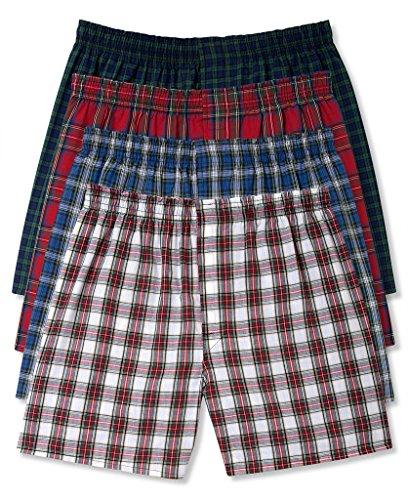 Hanes Men's 4Pack Assorted Plaid Boxer Shorts Boxers Underwear 3XL -