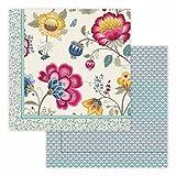 Pip Tagesdecke Design Floral Fantasy  Farbe Ecru 220x265