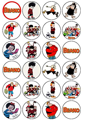 24-the-beano-cartoon-edible-wafer-paper-cup-cake-toppers