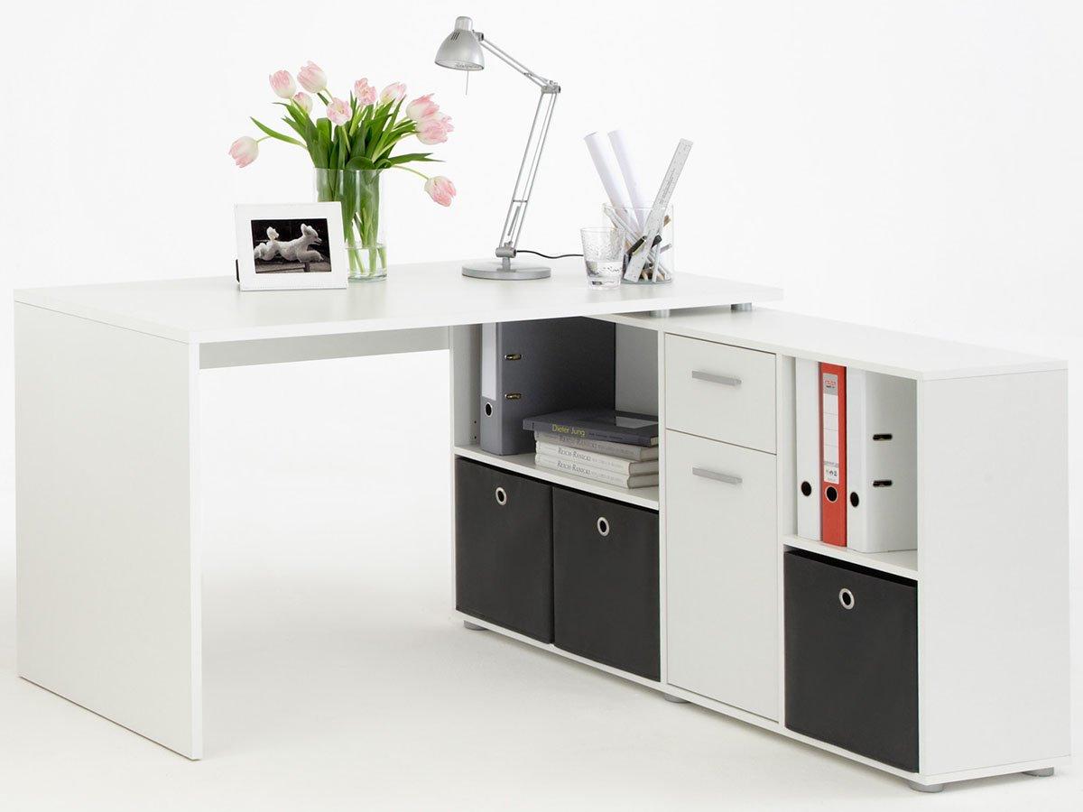 Winkelschreibtisch weiß hochglanz  Schreibtisch Arbeitstisch Computertisch Eckschreibtisch ...