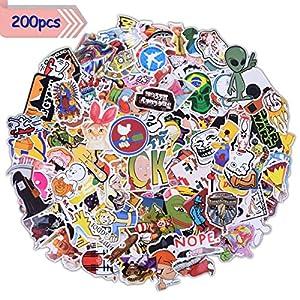 MINLUK Lot 200PCS Autocollants Stickers Factory Graffiti Autocollant Graffiti Stickers Vinyle Autocollant Bomb Étanche Vintage Cool pour Enfants Ordinateur Portable Téléphone Voiture Auto Vélo Casque Moto Skateboard Valise Bagage Etc