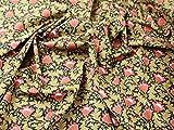 Traditioneller Blumendruck Baumwolle Linon Kleid Stoff