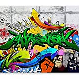 murando - Fototapete 200x140 cm - Vlies Tapete - Moderne Wanddeko - Design Tapete - Wandtapete - Wand Dekoration - Graffiti Streetart f-A-0368-a-b