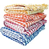 Mesh Masters Handloom 100% Pure Cotton Towels 1 Year Guarantee XXXL 36inches/72inches(3 feet/6feet) 90cms/180cms (Pack:4) 800 GSM Multi Color