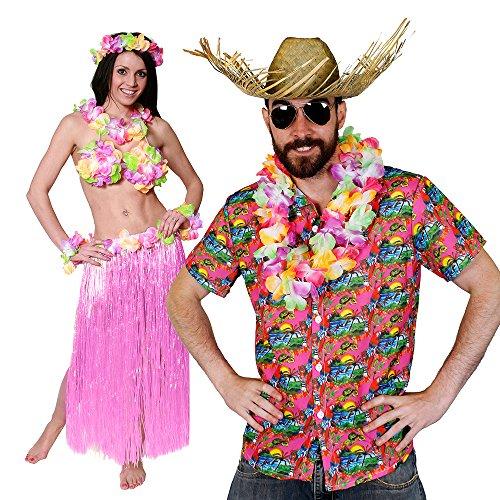 Bh Kostüm Paare (HAWAII KAPITÄN PAARE KOSTÜM VERKLEIDUNG = VON ILOVEFANCYDRESS®= DIESES SET GIBT ES NUR BEI UNS = DAS MOTIVE DES HAWAII HEMD WURDE VON UNS ENTWORFEN = DAS HEMD IST IN)