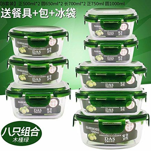 Una caja especial para horno microondas de vidrio resistente al calor,