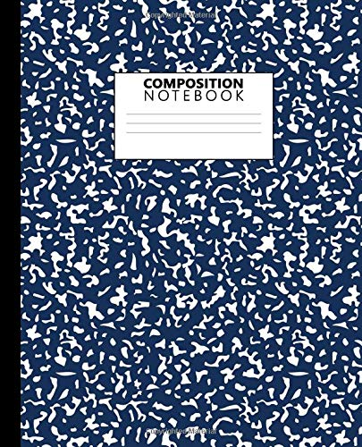 Composition Notebook: Cute Wide Ruled Paper Notebook Journal | Pretty Navy Blue Wide Blank Lined Workbook for Teens Kids Students Girls for Home School College for Writing Notes. - Black Navy Notebook