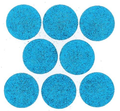 P 4186Big Glitter Dots Fotoalben, aqua (Jesse James Kostüme)