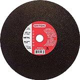 Griton CA1298Arbor industriale Cut off Wheel per lamiera usato su Stationary Saws, 2,5cm diametro, 30,5cm diametro, 1/20,3cm larghezza (confezione da 10)