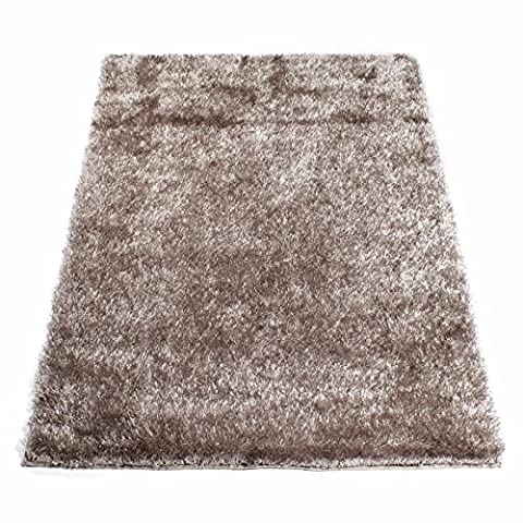 Tapis Shaggy Taupe 60 x 120 cm