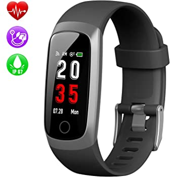 Pulsera de Actividad Inteligente, Kilponen Reloj Inteligente Hombre Mujer con Pulsómetro y Presión Arterial Reloj