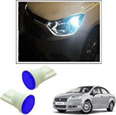 Vheelocityin Car Ceramic Button Shape Blue LED Parking Bulbs (set of 2) For Fiat Linea New
