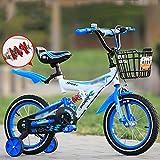 Bicyclehx Kind Fahrrad Jungen Kind Fahrrad Spielzeug Fahrrad Training Rad Fender Kind Geschenk Sicherheit Dämpfung Stabiles Kind Fahrrad (Color : Blue, Größe : 12 inch)