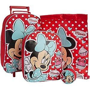 Walt Disney Juego de Equipaje Infantil, diseño de Minnie Mouse